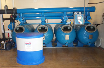 Commercial pool filtration system
