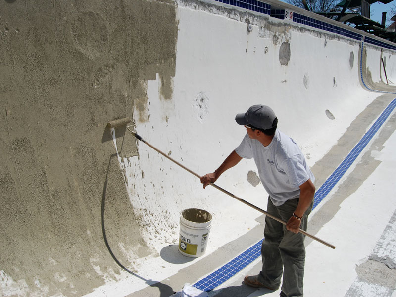 Commercial Pool Renovation Plaster Coping