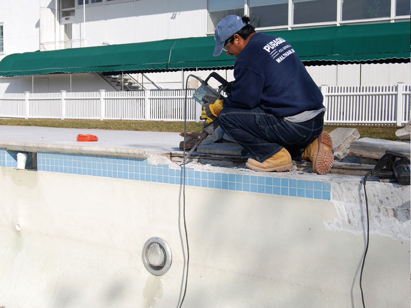 Commercial Pool Renovation - Coping Removal