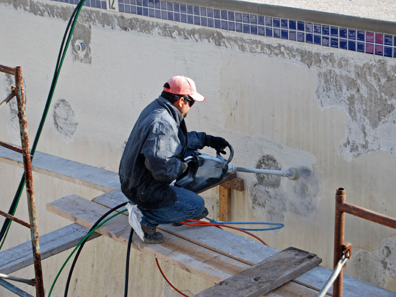 Commercial Pool Renovation - Water Blasting