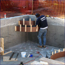 Gunite Step Repair