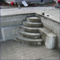 Gunite Pool Steps